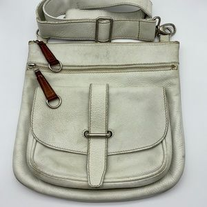 Roots Genuine Pebbled Leather Vintage Crossbody